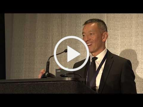 Dr. Paul Chiang receiving the AAHCM 2019 House Call Physician of the Year Award