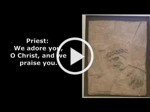 All the Stations of the Cross with Gregorian Music with visual icons