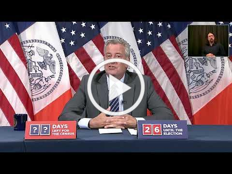 Mayor de Blasio Holds Media Availability