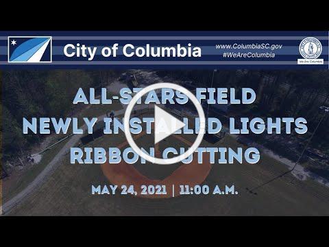 All-Stars Field Newly Installed Lights Ribbon Cutting