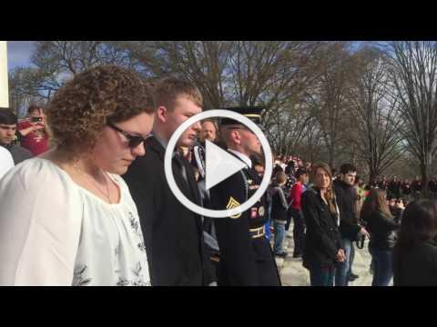 Tomb of the unknown soldier wreath laying ceremony!