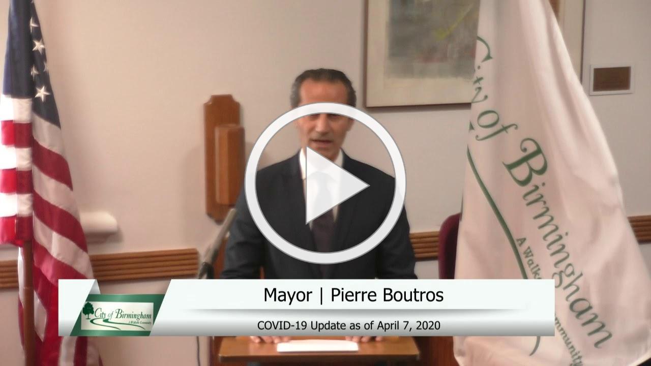Birmingham COVID -19 Update 8 - April 7, 2020