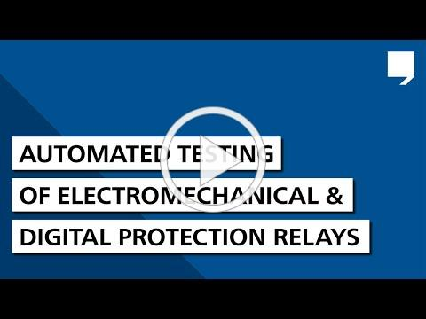 Automated testing of electromechanical and digital protection relays