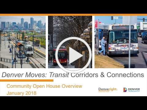 Denver Moves Transit Corridors and Connections, January 2018