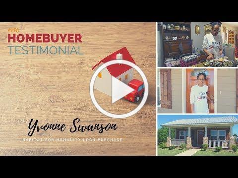 Homebuyer Testimonial: Yvonne Swanson, Tuscaloosa