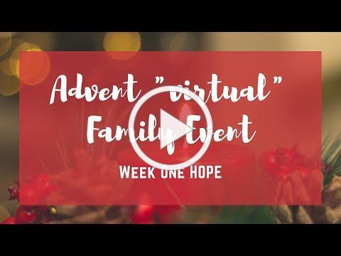 Advent Week One - Hope
