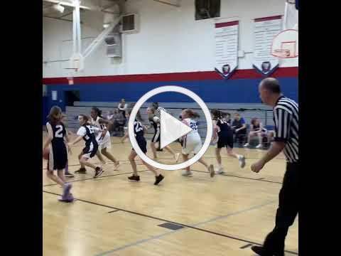 BCA's elementary girls' basketball team