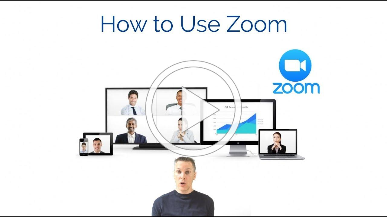 How to Use Zoom Online Meetings - Setting up an account and hosting a meeting tutorial