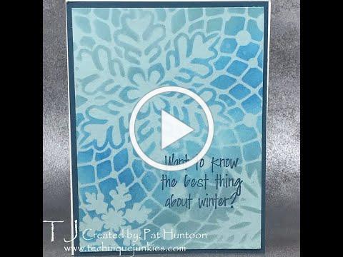 Blended Snow Stencil Technique Junkies