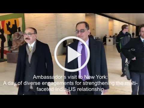 Visit of Amb. Harsh V. Shringla to New York