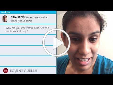 RINA REDDY - How do you feel about the Equine Guelph First Aid Course?