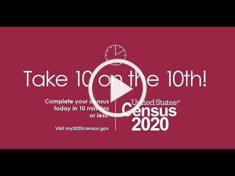 Take 10 minutes September 10 to Take 2020 Census