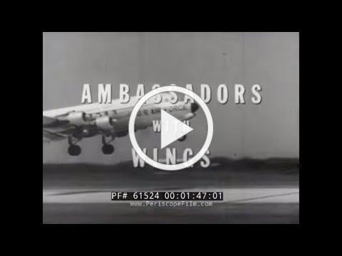CIVIL AIR PATROL INTERNATIONAL CADET EXCHANGE 1958 w/ JIMMY STEWART 61524