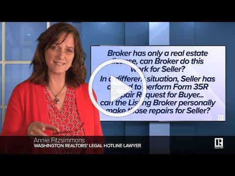 Can the Broker handle remodeling of Seller's Bathroom?