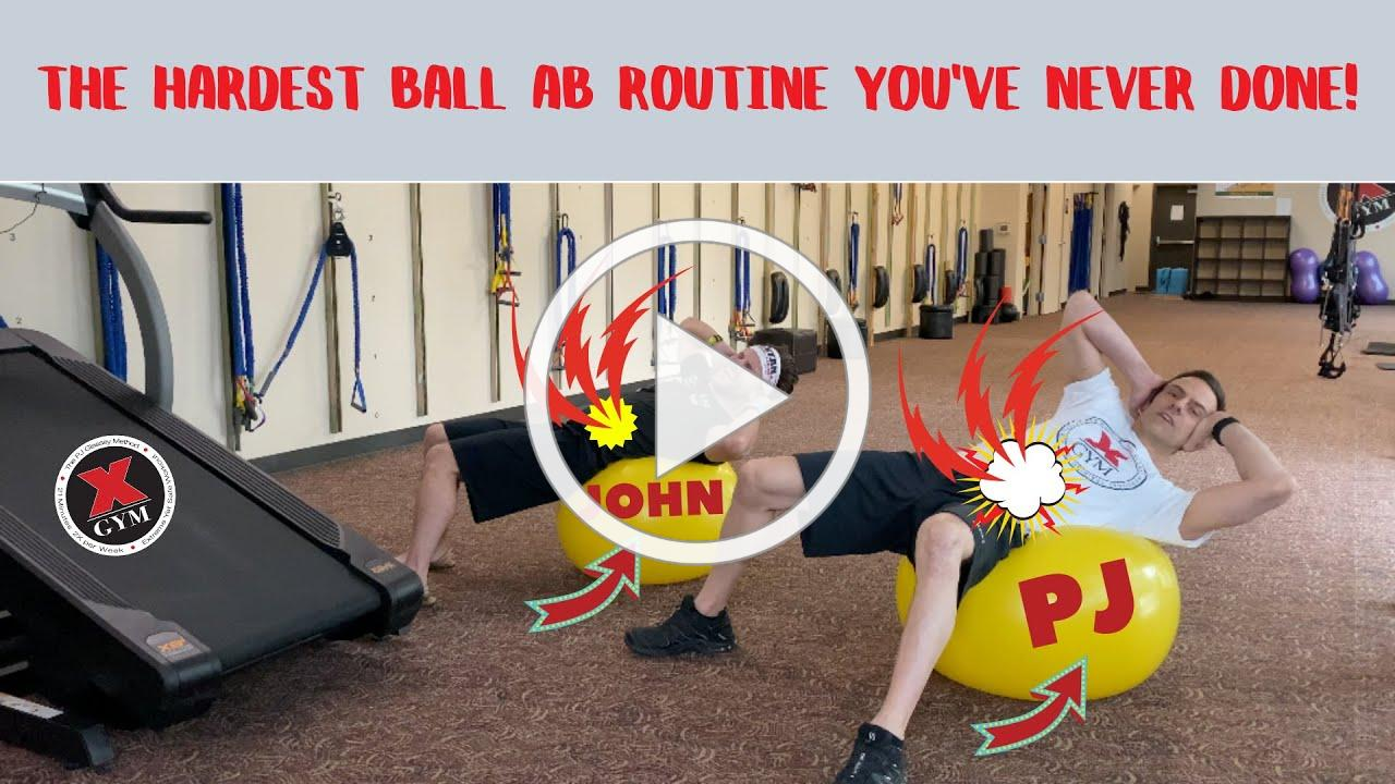 The Hardest Ball Ab Routine You've NEVER done!