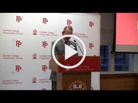 Dr. Robert Perrotta speaks as Ignatian Educator 2018