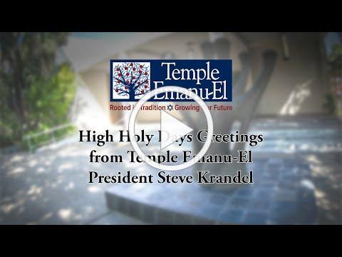 Temple Emanu-El President Greetings