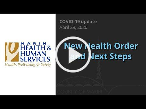 Marin COVID-19 new Order and the next steps moving forward