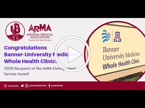2020 Arizona Medical Association Distinguished Service Healthcare Award