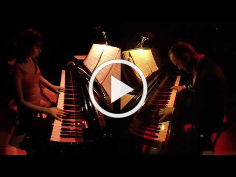 Daniel Strange & Rachel Ohnsman, piano duo, in PIANO SLAM 12 in February 2019 at the Arsht Center.
