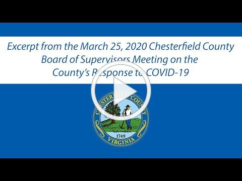 3/25/2020 Board of Supervisors Meeting Excerpt on COVID-19