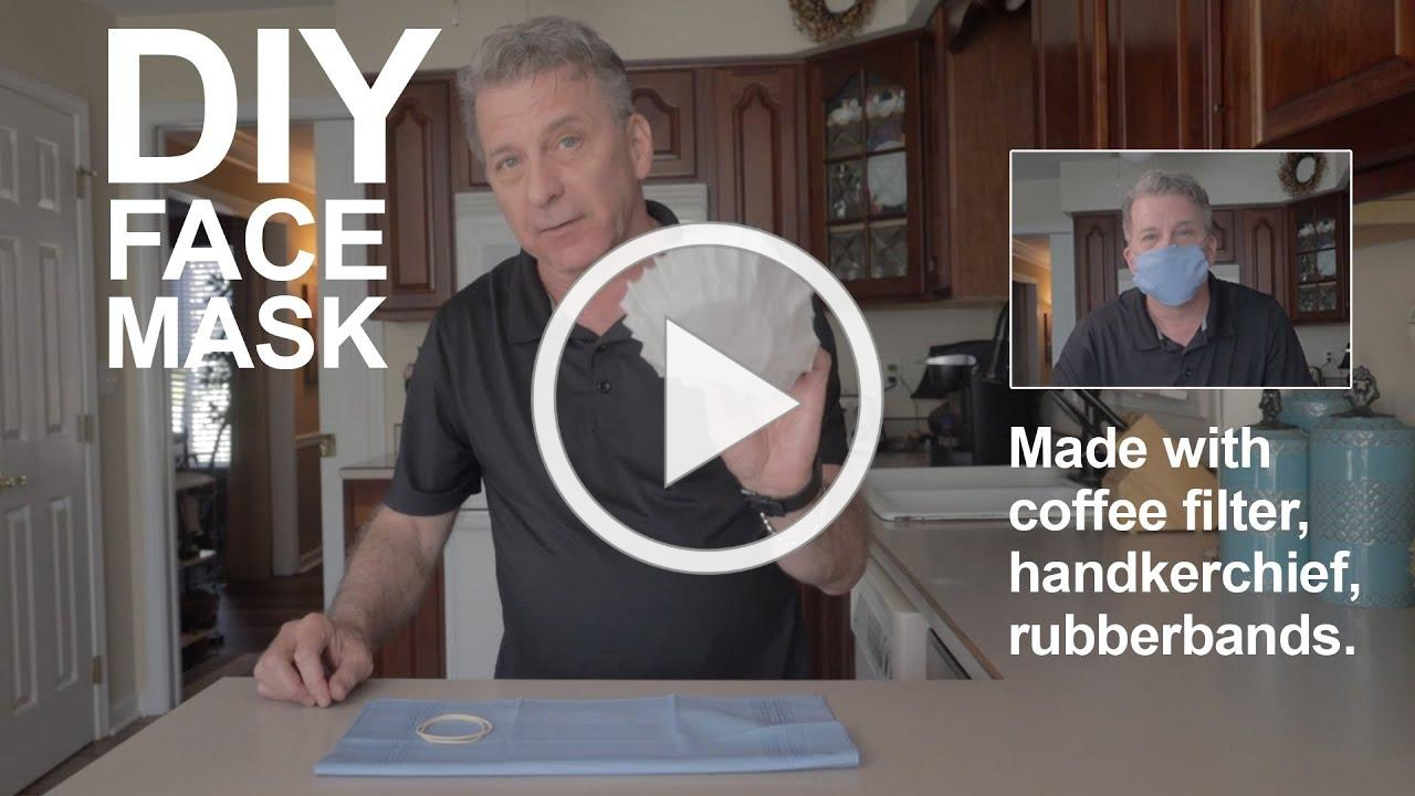 DIY FACE MASK | Made with coffee filter, handkerchief and rubber bands. (no sewing machine)