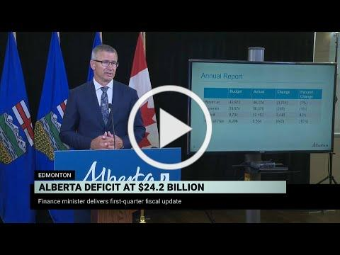 Alberta Finance Minister Travis Toews presents fiscal update - August 27, 2020