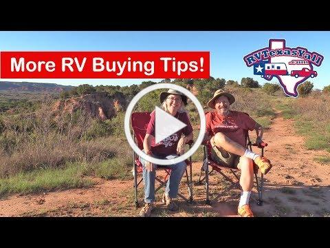 RV Buying Tips, Part II | More Things to Think About When You're Buying an RV! | RV Texas