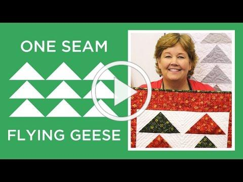 Make a One Seam Flying Geese quilt with Jenny Doan of Missouri Star! (Video Tutorial)