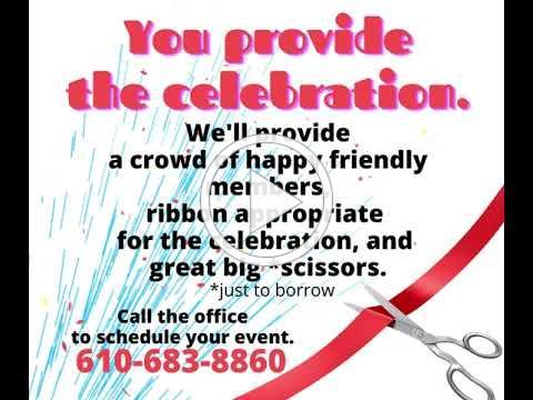 You provide the celebration