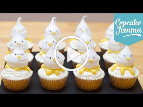 How to Make Easter Lemon Meringue Chick Cupcakes | Cupcake Jemma