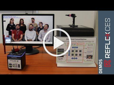 Workload consolidation demo showing Artificial Intelligence vision using OpenVINO™, by REFLEX CES