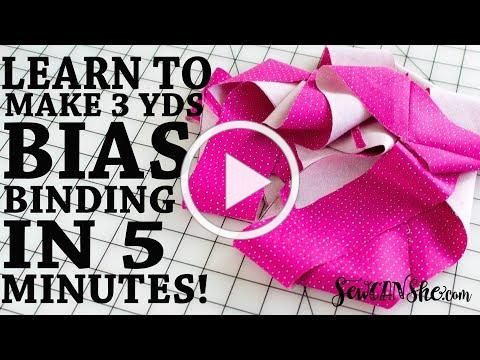 DIY Continuous Bias Binding - Super Fast Sewing Tutorial!