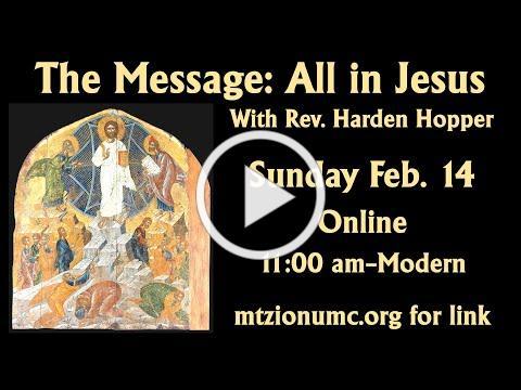 Mt Zion UMC Modern Worship - Feb 14, 2021