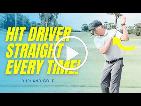 GOLF TIP | How To Hit A DRIVER STRAIGHT EVERY TIME