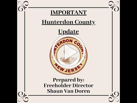 Hunterdon County Update: Veterans Exemption; Prepared by Freeholder Director Shaun Van Doren