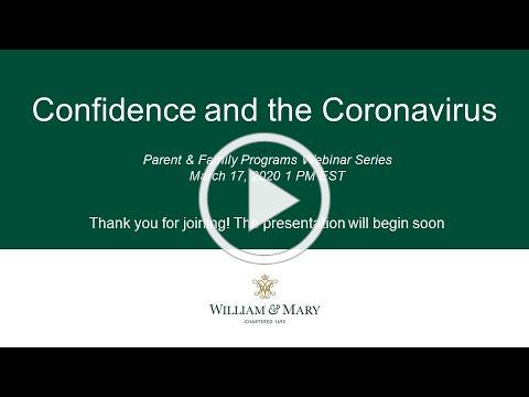 Confidence and the Coronavirus