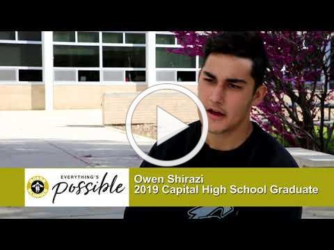 Boise and Beyond - 2019 Graduate Profiles - Owen Shirazi