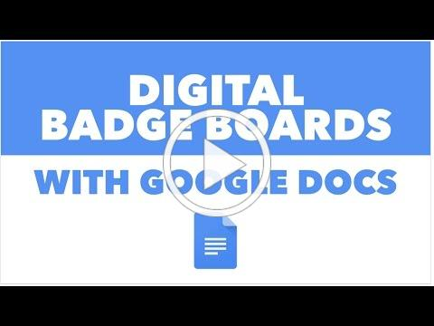 Digital Badge Boards with Google Docs