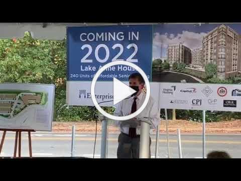 Lake Anne House Groundbreaking Remarks Oct. 22, 2020