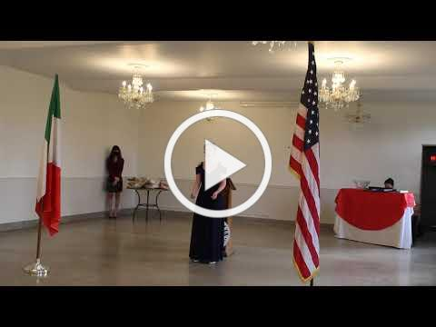 2020 Casa Italia Vocal Scholarship - Turano Scholarship Winner - November 8, 2020, Video 2