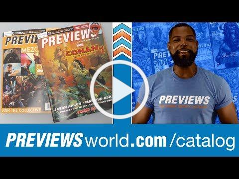 Inside October's PREVIEWS: CONAN + DRAGONQUEST + INTO THE SPIDERVERSE + More!