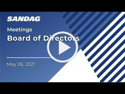 Board of Directors - May 28, 2021