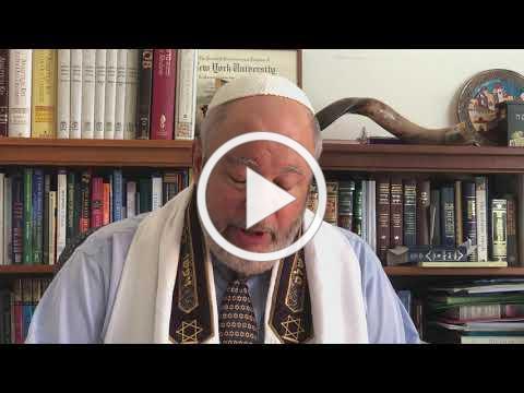 Rabbi Gerry Ginsburg Dvar Torah YK Mincha