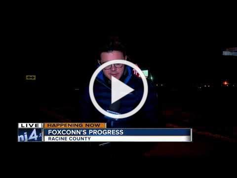 Frontage road work begins in Racine County for Foxconn plant