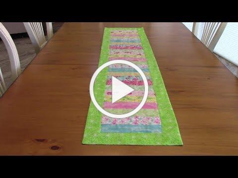 Summer Table Runner - jelly roll strips