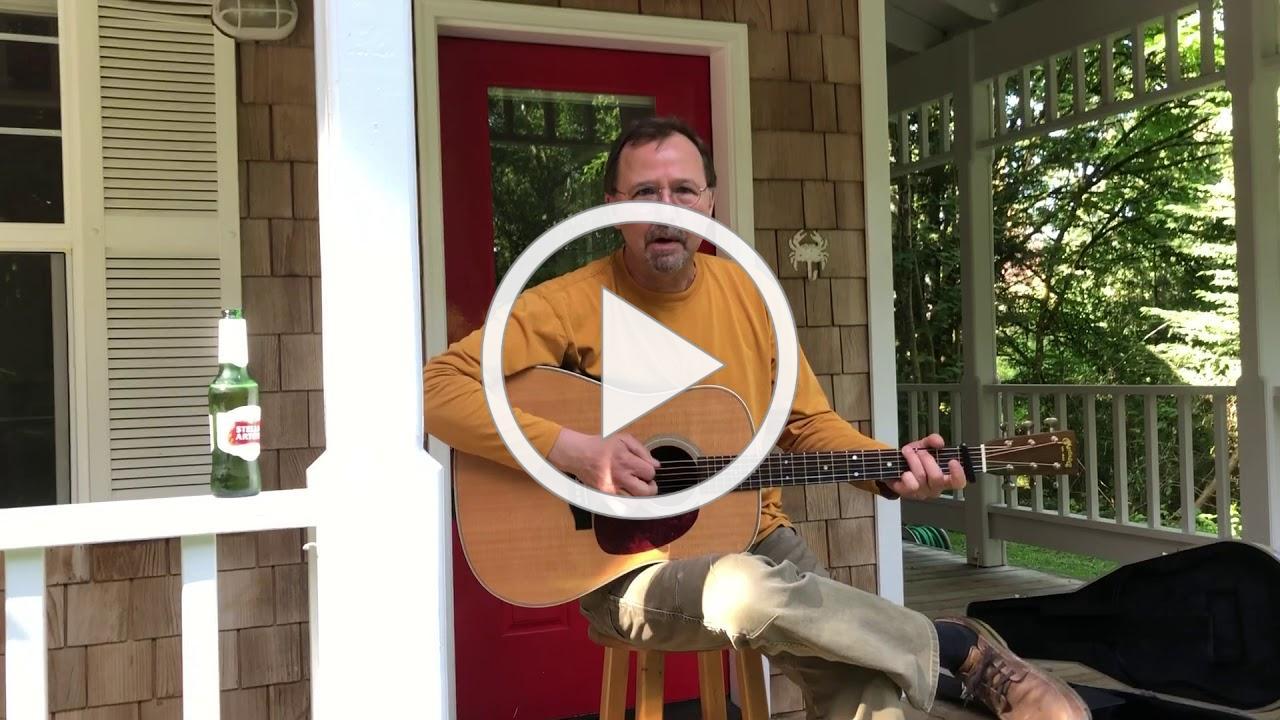 Bob Baranski..Unplugged on his front porch.