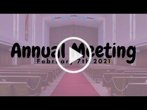 Annual Meeting 2-7-2021