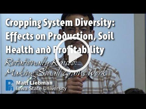 Cropping System Diversity: Effects on Production, Soil Health and Profitability - Matt Liebman