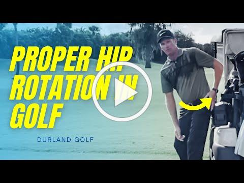GOLF TIP | How To Create PROPER HIP ROTATION In Golf